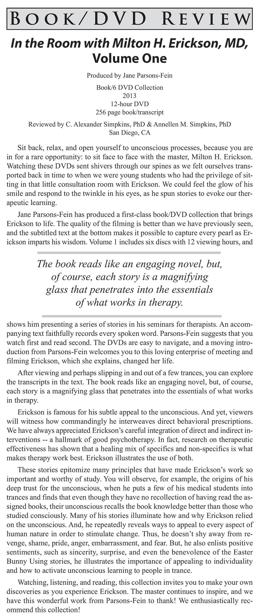 Milton Erickson DVD Reviews