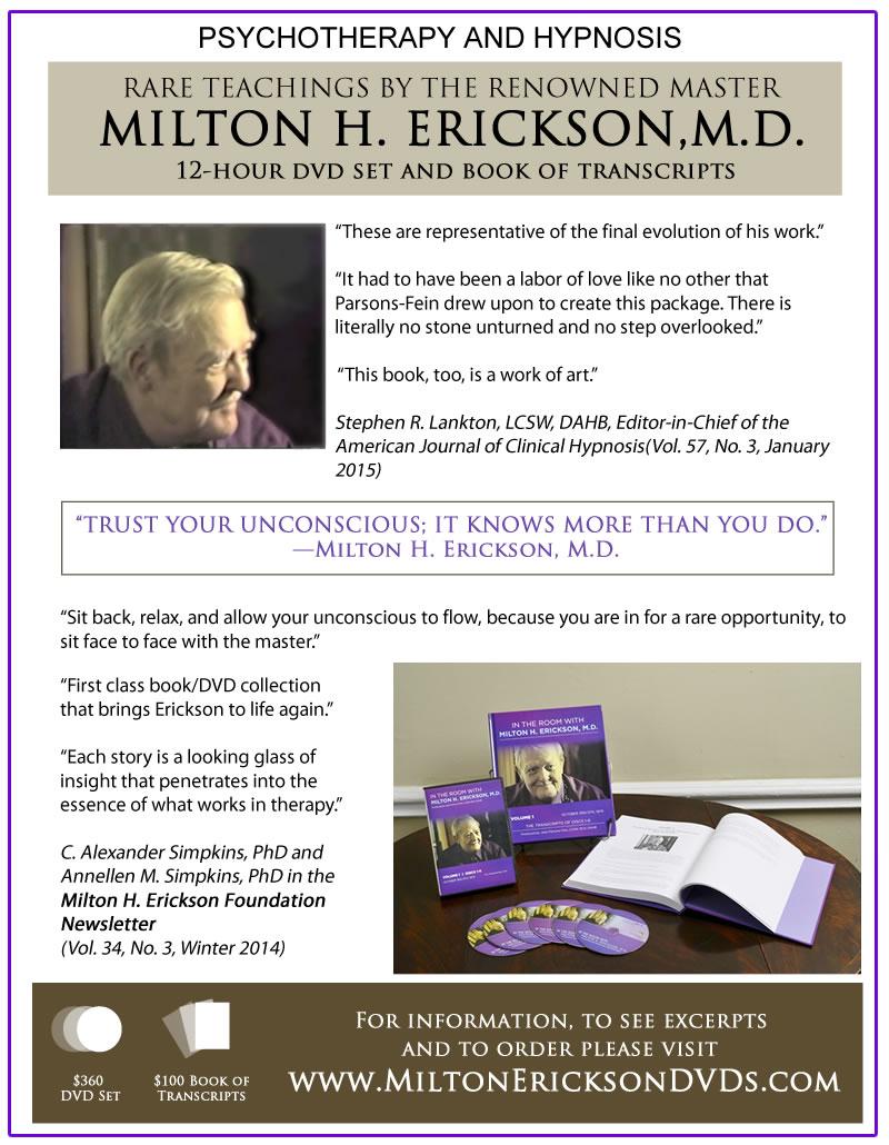 Milton Erickson DVDs